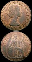London Coins : A167 : Lot 1853 : Mint Errors (2) Penny 1967 struck off-centre on a 28mm flan UNC with traces of lustre, Decimal One P...