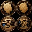 London Coins : A167 : Lot 20 : Countdown to the London Olympic Games, a 4-coin set in gold, Five Pound Crowns (4) 2009 3-Year Count...