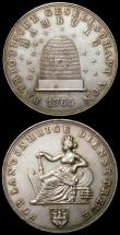 London Coins : A168 : Lot 948 : Germany - Hamburg 1765 Patriotic Society Silver Medal with 925 on the edge Obverse: Seated female le...