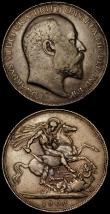 London Coins : A170 : Lot 1445 : Crowns 1902 (2) ESC 361, Bull 3560 the first Fine with two edge bruises, the second Fine/Good Fine, ...