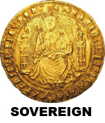 Early hammered gold sovereign