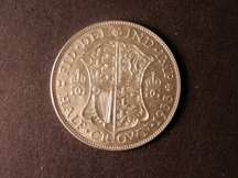 London Coins : A124 : Lot 1295 : Halfcrown 1933   Obv 1 Rev E -- B.S.C. 1710 -- the scarcer large rev. design, choice mint