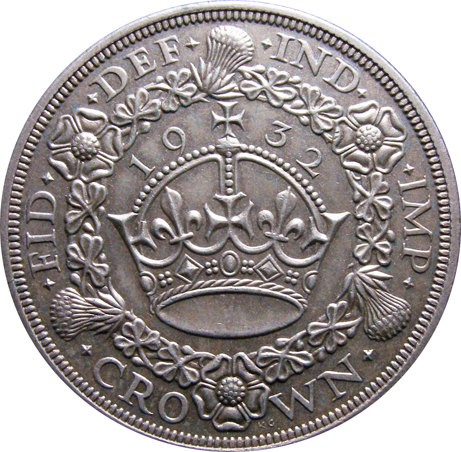 London Coins : A128 : Lot 1185 : Crown 1932 ESC 372 EF with a few light surface marks