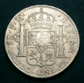 London Coins : A129 : Lot 1270 : Dollar George III Oval Countermark on a Mexico City 8 Reales 1794 ESC 129 Countermark GVF host coin ...