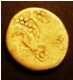 London Coins : A130 : Lot 930 : Celtic Ambiani Gold Stater,  Reverse Horse right S.3 Fair