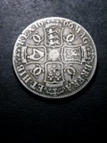 London Coins : A133 : Lot 230 : Crown 1666 XVIII edge ESC 32 VG