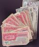 London Coins : A137 : Lot 356 : USA Military Payment Certificates Series (61) 461 $5 P M6 (1), $1 P M5 (1), 50c P M4...