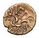London Coins : A142 : Lot 1762 : Stater Au. Corieltauvi. 'VEP CORF type'. C,12-15 AD. Obv; Crude wreath design. Rev&#...
