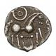 London Coins : A142 : Lot 1783 : Unit Ar. Atrebates. 'Sussex lyre type'. C,70-40 BC. Obv; Celticized head right. Rev&...