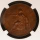 London Coins : A142 : Lot 588 : Halfpenny 1790 Pattern by Droz (Restrike) in Bronzed Copper Peck 989 R9 NGC PF65 BN Ex-Boulton famil...