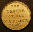 London Coins : A143 : Lot 672 : Farthing 18th Century Middlesex 1801 DH1166 reverse THE DESIRE OF ALL NATIONS EF/GEF and lustrous wi...