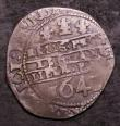 London Coins : A144 : Lot 1207 : Shilling Charles I 1643 Oxford Mint Three Oxford Plumes, S.2971 mintmark unclear Near Fine, clipped ...