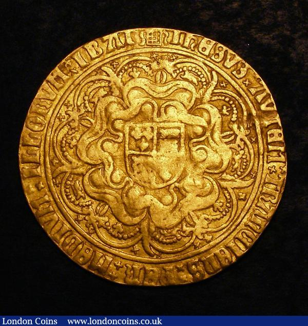 Sovereign Henry VIII First Coinage S.2264, Schneider 554 mintmark Portcullis, weight 14.77 grammes, Fine with some tooling at 2 o'clock on the reverse around the V and T of AVTEM, nevertheless an evenly struck piece, this type very rare and seldom offered in any grade : Hammered Coins : Auction 144 : Lot 1293