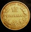 London Coins : A144 : Lot 544 : Australia Sovereign 1865 Sydney Branch Mint Marsh 370 Fine with a few small edge nicks