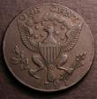 London Coins : A146 : Lot 1479 : USA Washington Cent 1791 Small Eagle, UNITED STATES edge Breen 1217 VF and pleasing, Rare