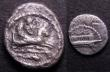 London Coins : A148 : Lot 1417 : Phoenicia (2) Silver One Twelfth Shekel, Tyre (c.400-360BC) Obverse Melqarth riding on Hippocamp., d...