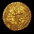 London Coins : A149 : Lot 1709 : Noble Richard II London Mint, with French title, cruder style, Saltire over sail, S.1655 mintmark Cr...