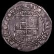 London Coins : A149 : Lot 1802 : Sixpence James I 1608 Second Coinage, Fourth Bust S.2658 mintmark Coronet NVF nicely toned and even ...