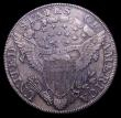 London Coins : A150 : Lot 1304 : USA Dollar 1802 Divided Date, Narrow Date, T of LIBERTY missing it's right foot, Breen 5400, B-...
