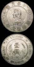 London Coins : A150 : Lot 939 : China - Republic Dollars (2) Year 9 (1920) Yuan Shih-Kai 7 characters above head Y#329.6 A/UNC and l...