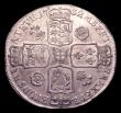 London Coins : A151 : Lot 2182 : Crown 1732 Roses and Plumes ESC 117 Bright GVF/NEF the obverse with some heavier contact marks and s...