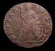 London Coins : A151 : Lot 2325 : Farthing 1698 Date in Legend Peck 679 VG Rare