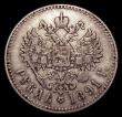 London Coins : A152 : Lot 1289 : Russia Rouble 1891 Y#46 Fine