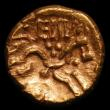 London Coins : A152 : Lot 1907 : Celtic.  Au stater.   Dobunni, Eisu,  C, 20-43 AD.  'Ricu' type,  Obv, Dobunnic tree, pell...