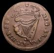 London Coins : A153 : Lot 1053 : Ireland Halfpenny 1686 S.6576 Good Fine, very scarce in collectable grades
