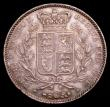 London Coins : A153 : Lot 2185 : Crown 1845 Cinquefoil stops of edge ESC 282 GVF with a pleasing tone