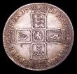 London Coins : A153 : Lot 2217 : Halfcrown 1701 Plain in angles, No Stops on Reverse ESC 565 Fine, the reverse slightly better, accor...