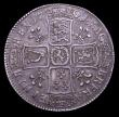 London Coins : A153 : Lot 2939 : Halfcrown 1701 Plumes ESC 567 GF/NVF with a pleasing and even grey tone