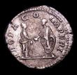 London Coins : A154 : Lot 1550 : Roman Denarius Plautilla (202AD) marriage of Plautilla to Caracalla, Plautilla standing right on lef...