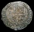 London Coins : A154 : Lot 1674 : Shilling Charles I Larger bust S.2797 mintmark Anchor, Good Fine with dark tone, purchased at Cutler...
