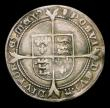 London Coins : A154 : Lot 1707 : Sixpence Edward VI Fine Silver issue S.2483 mintmark Tun, Fine