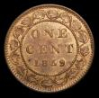 London Coins : A154 : Lot 763 : Canada One Cent 1859 Double punched 9 in date, Narrow 9 type 2 with traces of original 9 at the left...