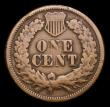 London Coins : A154 : Lot 951 : USA Cent 1877 Breen 1994 G/VG the obverse with some scratches and digs, the key date in the Indian H...