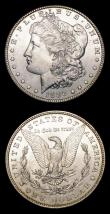 London Coins : A154 : Lot 956 : USA Dollars (2) 1884O Breen 5578, Lustrous UNC with some light contact marks, 1886 Breen 5586 Lustro...