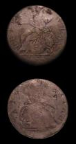 London Coins : A155 : Lot 1051 : Halfpennies Contemporary Counterfeits (2) George II but dated 1775 a muling of George II and George ...