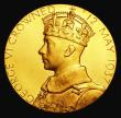 London Coins : A155 : Lot 2089 : Coronation of George VI 1937 30mm diameter in gold Eimer 2046a by P.Metcalfe, The official Royal Min...