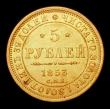London Coins : A155 : Lot 2290 : Russia 5 Rouble 1853 CΠБ AГ C#175.3 VF/GVF