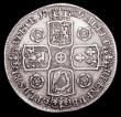 London Coins : A155 : Lot 700 : Crown 1739 Roses ESC 122 bright Fine with some minor edge faults