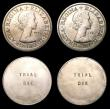 London Coins : A155 : Lot 84 : Florins Elizabeth II Florin Engraver's Trial pieces undated c.1961 (5) each with TRIAL DIE on t...