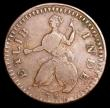 London Coins : A156 : Lot 1429 : USA Halfpenny Connecticut 1786 ETLIB INDE legend, Medium Head, Breen 743, Miller 2.1A struck on a he...