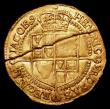 London Coins : A156 : Lot 1691 : Double Crown James I Third Coinage S.2641A Fine or slightly better the coin in two halves with a lon...