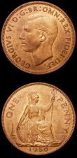 London Coins : A156 : Lot 3378 : Pennies (2) 1950 Freeman 240 dies 3+C UNC with good subdued lustre, 1951 Freeman 242 dies 3+C UNC wi...