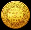 London Coins : A157 : Lot 1472 : India Mohur 1870 Milled Edge Proof in gold KM481 FDC in the original H.M.'s Mint, Calcutta enve...