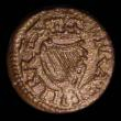 London Coins : A157 : Lot 1856 : Farthing James I Harington type 1b untinned issue, unmodified central jewel on obverse, Peck 42, S.2...