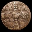 London Coins : A158 : Lot 1189 : Ireland Crown Gunmoney 1690 VICT/ORE S.6578 Fine/Good Fine, an interesting understrike shows the hea...