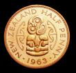 London Coins : A158 : Lot 1257 : New Zealand Halfpenny 1963 VIP Proof/Proof of record KM#23.2 nFDC lightly toned, retaining much orig...